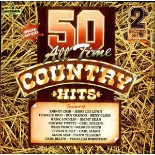 "50 All Time Country Hits - Various Artists, 2LP, vinila plate, 12"" vinyl record"