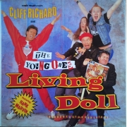 "Comic Relief presents: Cliff Richard And The Young Ones - Living Doll, Maxi-Single, 45 RPM, 12"" vinyl record"