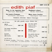 "Edith Piaf - Non, Je Ne Regrette Rien, Single, vinila plate, 7"" vinyl record"