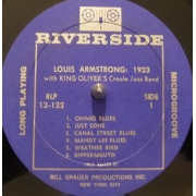 "Louis Armstrong With King Oliver's Creole Jazz Band ‎– Louis Armstrong: 1923, LP, vinila plate, 12"" vinyl record"