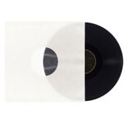 "Aploksne vinilam DeLux, aizsargkabatiņa skaņuplatei ar polietilēna oderi, baltas, 12"", Record Sleeves for 12"" LP - 100 gab."